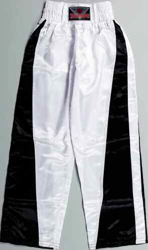 PANTALON FULL CONTACT BLANC/NOIR  Réf.0916