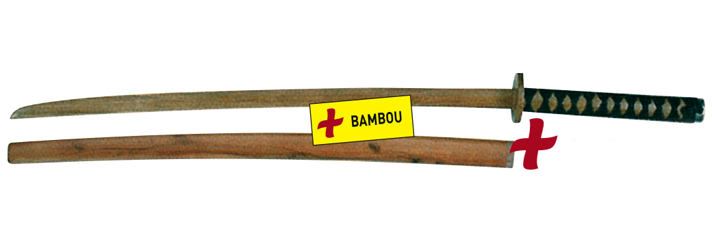 BOKKEN + FOURREAU BAMBOU ROUGE M418