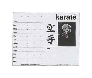 CARTES DE CLUB KARATE