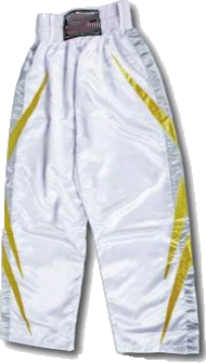 PANTALON FULL CONTACT blanc/or réf.815